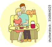 cople on the couch | Shutterstock .eps vector #316864025