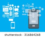 composition with smartphone and ... | Shutterstock .eps vector #316864268