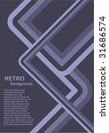 an abstract vector retro... | Shutterstock .eps vector #31686574