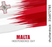 malta independence day abstract ... | Shutterstock .eps vector #316872785