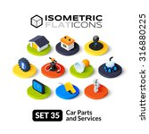 isometric flat icons  3d... | Shutterstock .eps vector #316880225