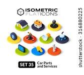 isometric flat icons  3d...