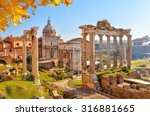 Roman Ruins In Rome  Italy