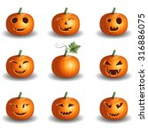 halloween pumpkin objects jack... | Shutterstock .eps vector #316886075