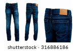 Blue Jeans Pants Isolated Fron...