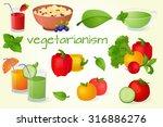healthy food  set meal ... | Shutterstock .eps vector #316886276