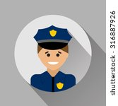 policeman flat style icon   Shutterstock .eps vector #316887926