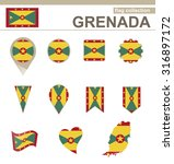 grenada flag collection  12... | Shutterstock . vector #316897172