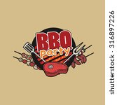 bbq party  barbecue  symbol ... | Shutterstock .eps vector #316897226
