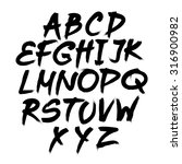 alphabet. hand drawn letters.... | Shutterstock . vector #316900982