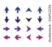arrow sign icon set | Shutterstock .eps vector #316912256