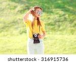 Fashion Pretty Blonde Woman...