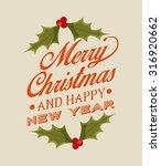 happy merry christmas design ...   Shutterstock .eps vector #316920662