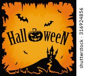 halloween pumpkin background | Shutterstock .eps vector #316924856