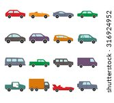 car collection icons | Shutterstock . vector #316924952