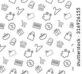 shopping seamless pattern... | Shutterstock . vector #316926155