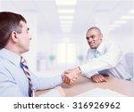 agreement handshake. | Shutterstock . vector #316926962