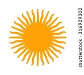sun of argentina | Shutterstock .eps vector #316929302