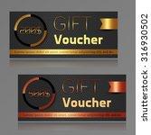 gift voucher template. vector...   Shutterstock .eps vector #316930502