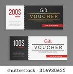 gift voucher template. vector... | Shutterstock .eps vector #316930625