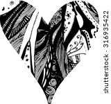 doodle heart. vector...   Shutterstock .eps vector #316935422