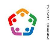 community logo. vector.  | Shutterstock .eps vector #316939718