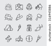 camping adventure line icon | Shutterstock .eps vector #316945886