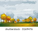 landscape with many trees ... | Shutterstock .eps vector #3169476