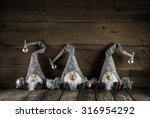 Three Handmade Funny Santa...