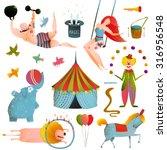 circus carnival show clip art... | Shutterstock .eps vector #316956548