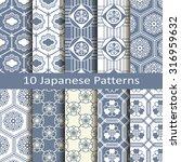 set of ten japanese patterns | Shutterstock .eps vector #316959632