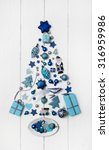 ������, ������: Blue and turquoise christmas