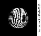 striped background. logo design.... | Shutterstock .eps vector #316967318