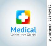 medical application logotype...   Shutterstock .eps vector #316969982