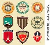 retro logotypes  identity ...   Shutterstock .eps vector #316970192