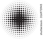 halftone dotted radial... | Shutterstock .eps vector #316973945