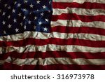 closeup of wrinkled american... | Shutterstock . vector #316973978