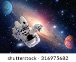 astronaut spaceman outer space... | Shutterstock . vector #316975682
