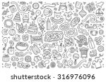 sketchy vector hand drawn... | Shutterstock .eps vector #316976096