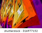 beautiful street art of... | Shutterstock . vector #316977152