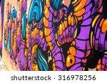 beautiful street art of... | Shutterstock . vector #316978256
