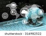 global e commerce. | Shutterstock . vector #316982522