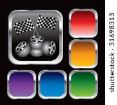 racing checkered flags and... | Shutterstock .eps vector #31698313