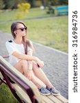vintage beautiful fashion girl... | Shutterstock . vector #316984736