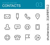 contacts outline icon set  ... | Shutterstock . vector #316989512