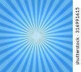 Rays Background Blue