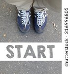 male sneakers with word start... | Shutterstock . vector #316996805
