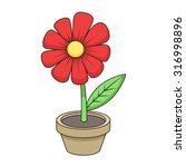 Flower Cartoon Vector...