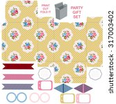 party set. gift box template. ... | Shutterstock .eps vector #317003402