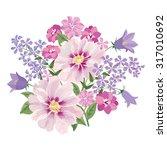 Flower Bouquet. Floral Frame....